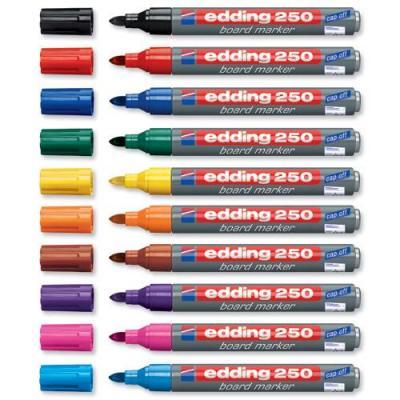 Edding markeerstift: 250 - Grijs, Multi kleuren