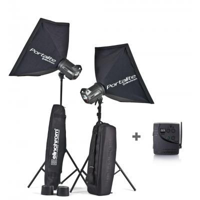 Elinchrom photo studio equipment set: BRX 250/250 To Go - Zwart
