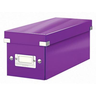 Leitz archiefdoos: Click & Store CD/Media Storage Box, Purple - Paars