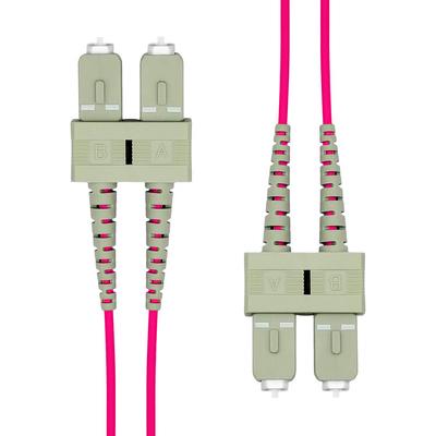 ProXtend SC-SC UPC OM4 Duplex MM Fiber Cable 1M Fiber optic kabel - Violet