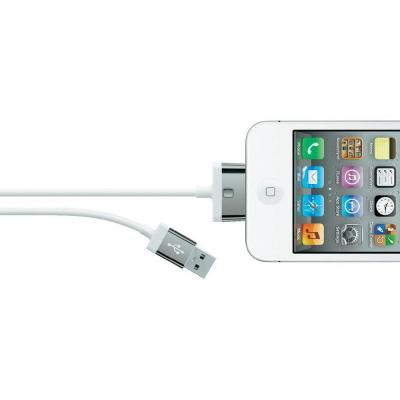 Belkin USB kabel: USB A - 30-pin, 2.0m, White - Wit