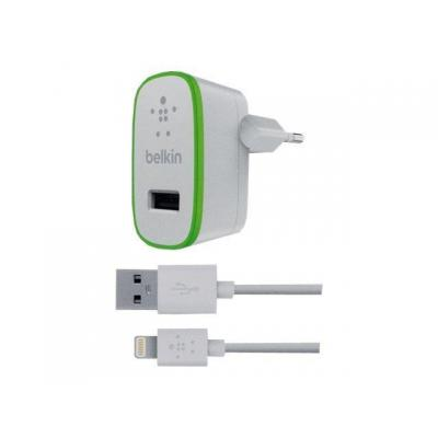 Belkin oplader: Home Charger w/ USB 3.0 Micro-B Cable (10 Watt/2.1 Amp) - Wit