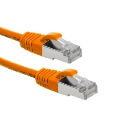 EECONN Cat.6A S/FTP Patchkabel, AWG26, LSZH, Oranje, 1.5m Netwerkkabel