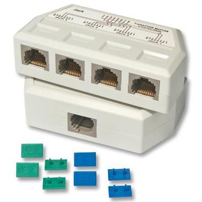 Lindy netwerk splitter: UTP/RJ45 Port Multiplier - Wit
