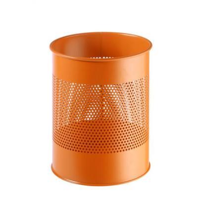 Durable Waste basket metal round 15/P 165 mm Prullenbak - Oranje