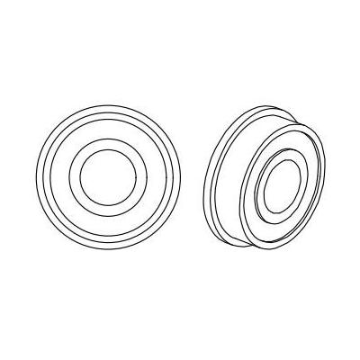 Datamax o'neil printing equipment spare part: (2/PK) Bearing, Flanged for I-Class / H-Class Models