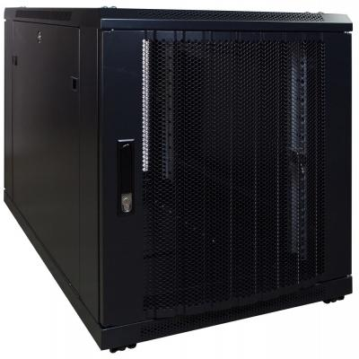 DS-IT 12U mini serverkast met geperforeerde deur 600x1000x635mm (BxDxH) Stellingen/racks