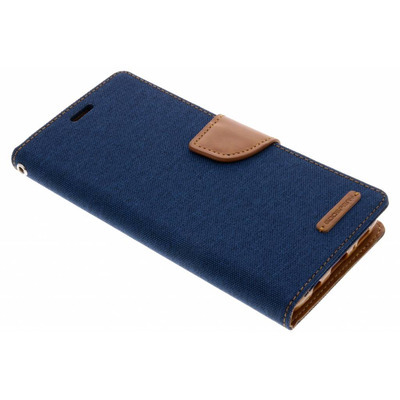 Canvas Diary Booktype Samsung Galaxy S9 Plus - Blauw / Blue Mobile phone case