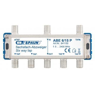 Spaun ABE 6/15 P Kabel splitter of combiner - Blauw, Zilver