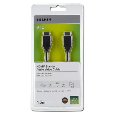 Belkin HDMI kabel: HDMI 1.4 1.5m - Zwart