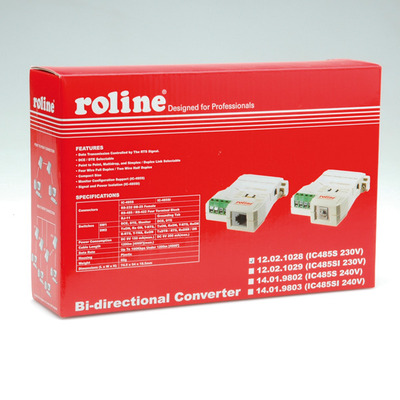 ROLINE Converter RS232-RS485, without Galvanic Isolation Kabel adapter - Grijs