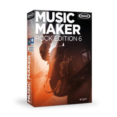 Magix audio software: Music Maker Rock Edition 6