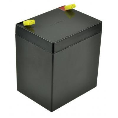 2-power UPS batterij: Lead acid, 12V, 5Ah - Zwart