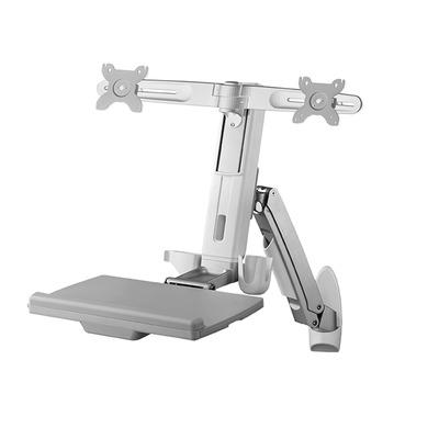 ICY BOX IB-MS600-W2 Monitorarm - Grijs, Wit