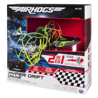 Spin master drones: Air Hogs Hyper Drift Drone (2 in 1) Green - Zwart, Groen