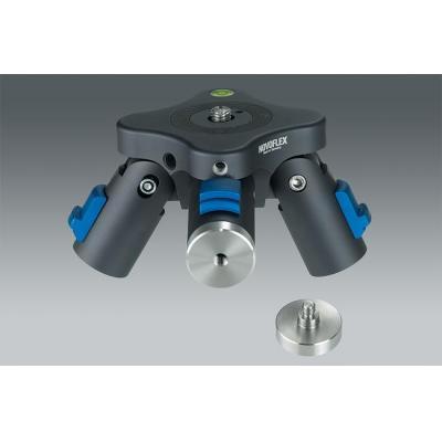 "Novoflex statief accessoire: Connector for QuadroPod w/ 1/4"" thread - Zwart, Blauw"