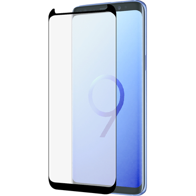 Azuri Curved Tempered Glass RINOX ARMOR - black frame - SMALL - voor Samsung S9 Plus Screen protector - Zwart, .....