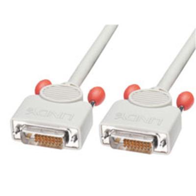 Lindy DVI kabel : 15m DVI Cable - Grijs
