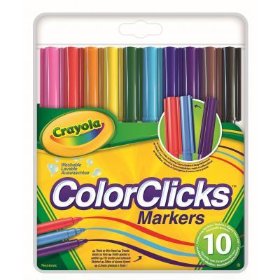 Crayola viltstift: 10 ColorClicks viltstiften - Multi kleuren