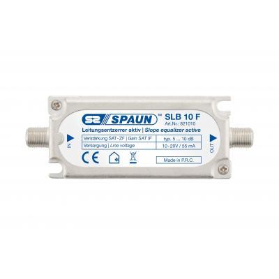 Spaun SLB 10 F Kabel splitter of combiner - Zilver