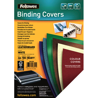 Fellowes binding cover: Delta A4 - Wit