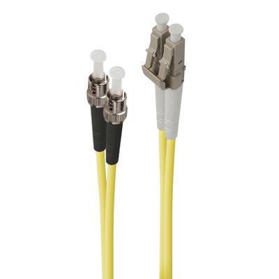 ALOGIC 1m LC-ST Single Mode Duplex LSZH Fibre Cable 09/125 OS2 Fiber optic kabel - Geel