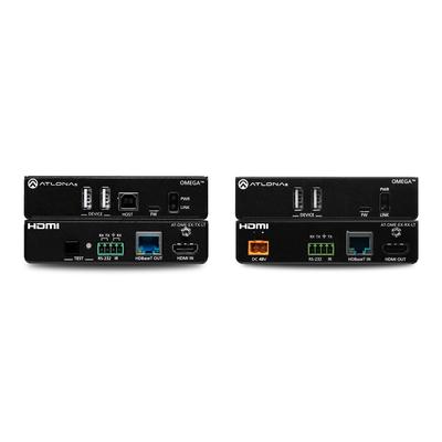 Atlona Multi-channel, USB 2.0, 4K/UHD 60 Hz with 4:2:0, LED indicators, 120 Mbps Netwerk verlenger - Zwart