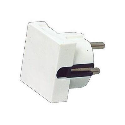 HQ stekker-adapter: 16A, 90°, Wit