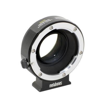 Metabones lens adapter: Leica R Lens to Fuji X Speed Booster ULTRA, 5 Elements / 4 Groups, 0.71x - Zwart, Chroom