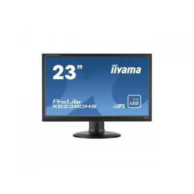 "Iiyama monitor: ProLite Kantelbare 23"" LED monitor - Zwart"