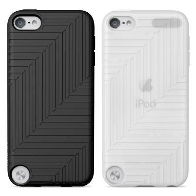 Belkin mobile phone case: Flex Case for iPod Touch 5G - Zwart, Transparant