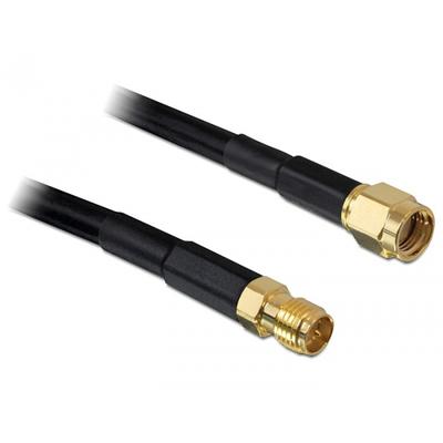 DeLOCK 5m RP-SMA Coax kabel - Zwart