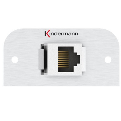 Kindermann 7441000526 Wandcontactdoos - Aluminium