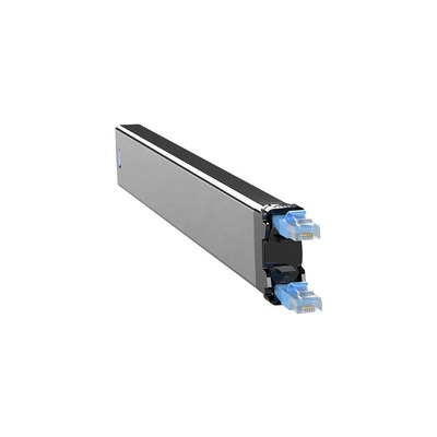 PATCHBOX 365 Cat. 6 Cassette, 50mm x 690mm x 50mm, 0.32kg - Zwart,Blauw,Zilver