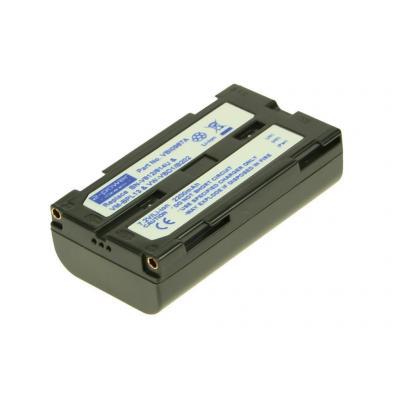 2-power batterij: Camcorder battery, 1850 mAh, 7.2 V - Zwart