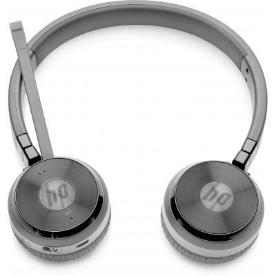 Hp headset: UC draadloze duo headset - Zwart (Demo model)