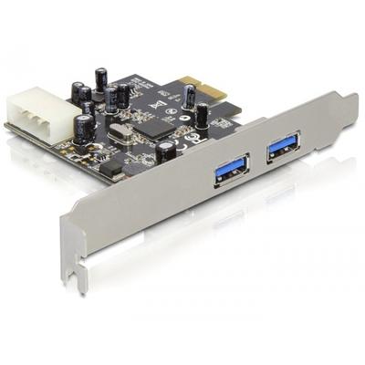 DeLOCK USB 3.0 PCI Express Card Interfaceadapter - Zwart,Zilver
