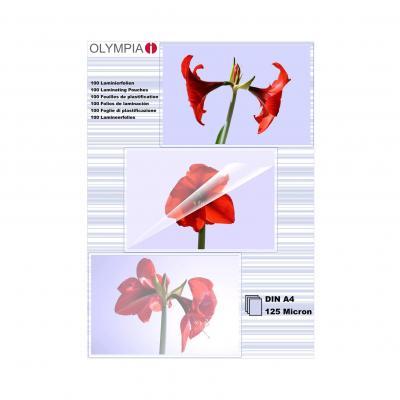 Olympia 1x100 DIN A4 125 micron Laminatorhoes - Transparant