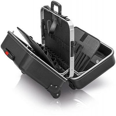 "Knipex Tool Case ""BIG Twin-Move"" with integrated rollers and telescopic handle - Zwart"