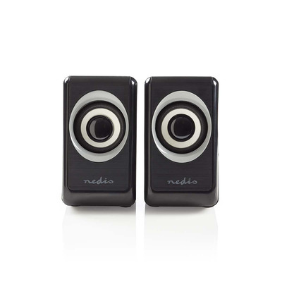 Nedis PC, 2.0, 18 W, 3.5mm Jack Speaker - Zwart