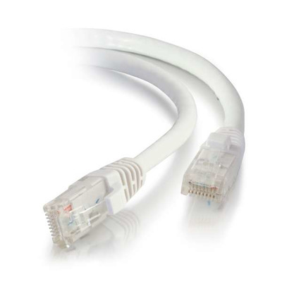 C2G 0,5m Cat6A Booted Unshielded (UTP) Low Smoke Zero Halogen (LSZH) netwerkpatchkabel - Wit Netwerkkabel