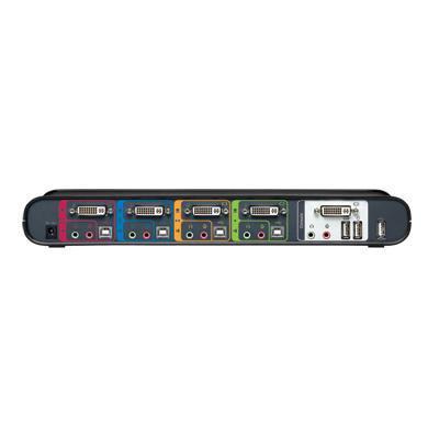 Linksys 4-Port Switch, DVI and USB KVM switch - Zwart