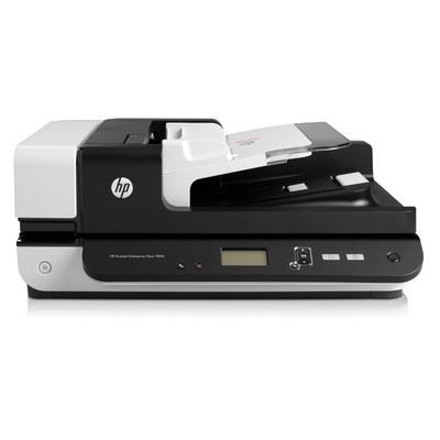 Hp scanner: Scanjet Scanjet Enterprise Flow 7500 flatbedscanner - Zwart, Wit (Demo model)
