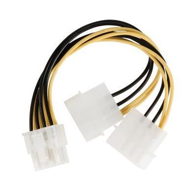 Valueline electriciteitssnoer: EPS 8-pin/2x Molex, 0.15m - Multi kleuren
