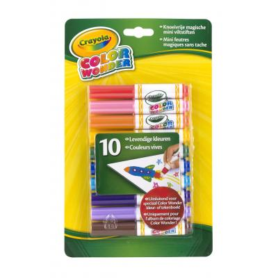 Crayola verf stift: Color Wonder - 10 Mini viltstiften - Multi kleuren