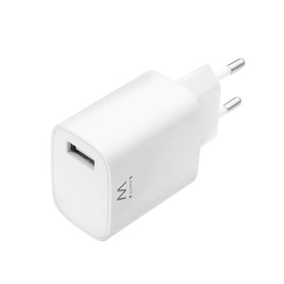 Ewent 1-Poorts Compacte USB Lader 2.4A Oplader - Wit
