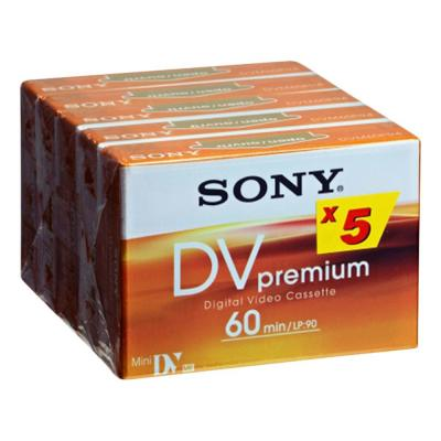 Sony videotape: 5-pack MiniDV Premium Tape - 60 min