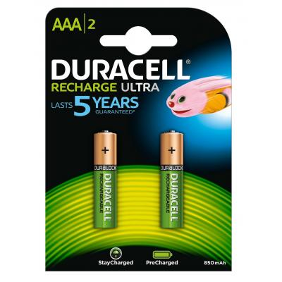 Duracell batterij: Recharge Ultra AAA-batterijen, verpakking van 2 - Multi kleuren