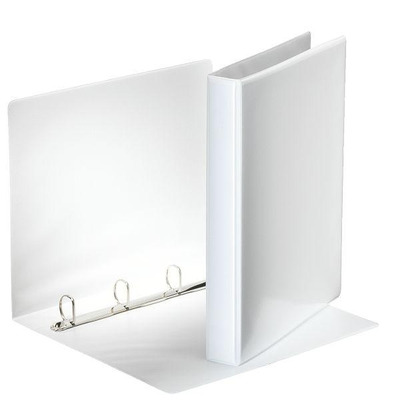Esselte ringband: Panorama Ring Binders Deluxe, PVC White 4 x 30 mm - Wit