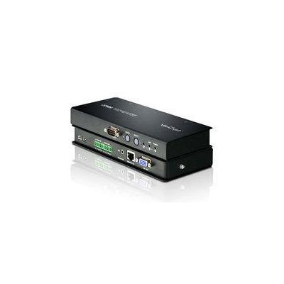 Aten AV extender: RJ45 Video Extend. Transmitter Up To 300 M + Balanced Audio - Zwart